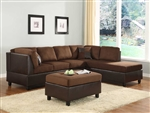 Comfort Living Reversible Sectional Sofa in Chocolate by Home Elegance - HEL-9909CH