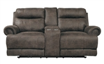 Aggiano Double Reclining Love Seat in Dark Brown by Home Elegance - HEL-9911DBR-2