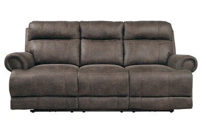 Aggiano Double Reclining Sofa in Dark Brown by Home Elegance - HEL-9911DBR-3
