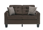 Lantana Love Seat in Chocolate by Home Elegance - HEL-9957CH-2