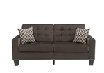 Lantana Sofa in Chocolate by Home Elegance - HEL-9957CH-3
