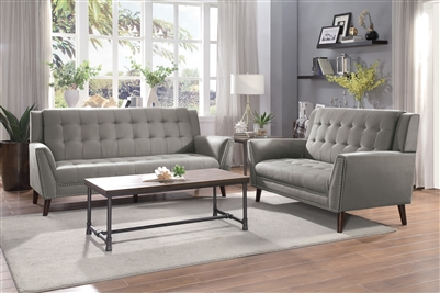Broadview 2 Piece Sofa Set in Fawn by Home Elegance - HEL-9977BR