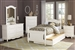 Clementine 4 Piece Youth Bedroom Set in White by Home Elegance - HEL-B1799T-1-4