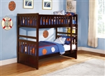 Rowe Twin/Twin Bed in Dark Cherry by Home Elegance - HEL-B2013DC-1