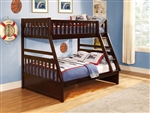 Rowe Twin/Full Bunk Bed in Dark Cherry by Home Elegance - HEL-B2013TFDC-1