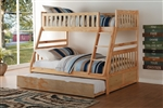 Bartly Twin/Full Bunk Bed in Pine by Home Elegance - HEL-B2043TF-1