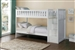 Galen Bunk Bed with Reversible Step Storage in White by Home Elegance - HEL-B2053SBW-1