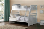 Galen Twin/Full Bunk Bed in White by Home Elegance - HEL-B2053TFW-1