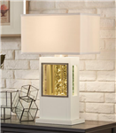 Lucca Table Lamp in White by Home Elegance - HEL-H10125
