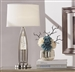 Jair Table Lamp in Satin Nickel by Home Elegance - HEL-H10130