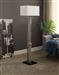 Noura Floor Lamp in Satin Nickel by Home Elegance - HEL-H11760