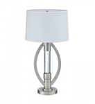 Lucian Table Lamp in Satin Nickel by Home Elegance - HEL-H11761