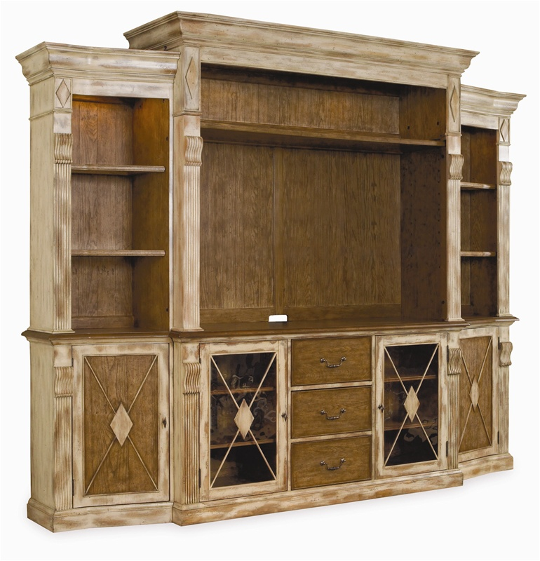 Sanctuary 70 Inch Console 4 Piece Home Theater Wall Unit In Dune U0026 Beach  Finish By Hooker Furniture HF 3002 70452