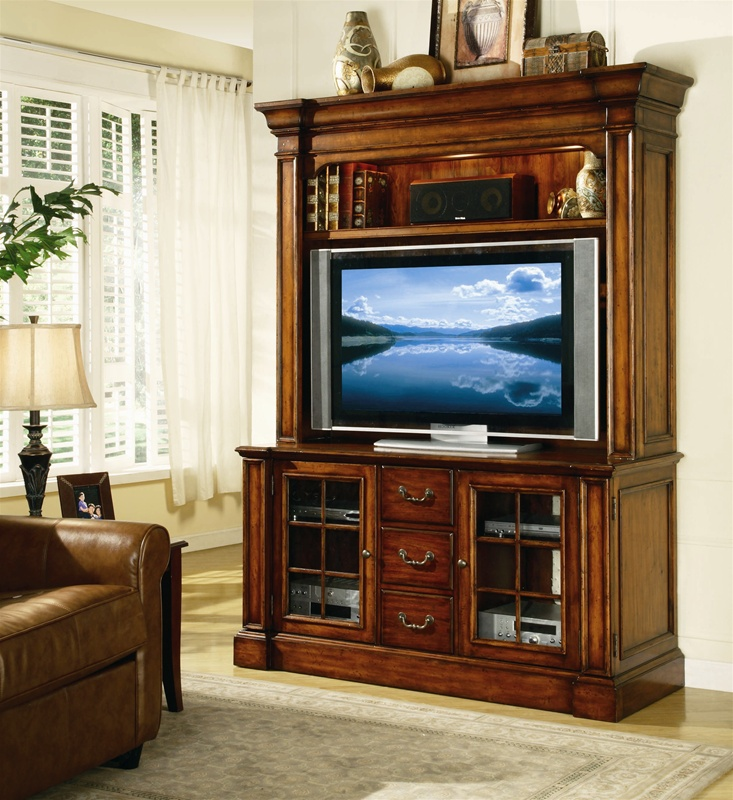 Waverly Place 60 Inch Entertainment Console With Hutch In