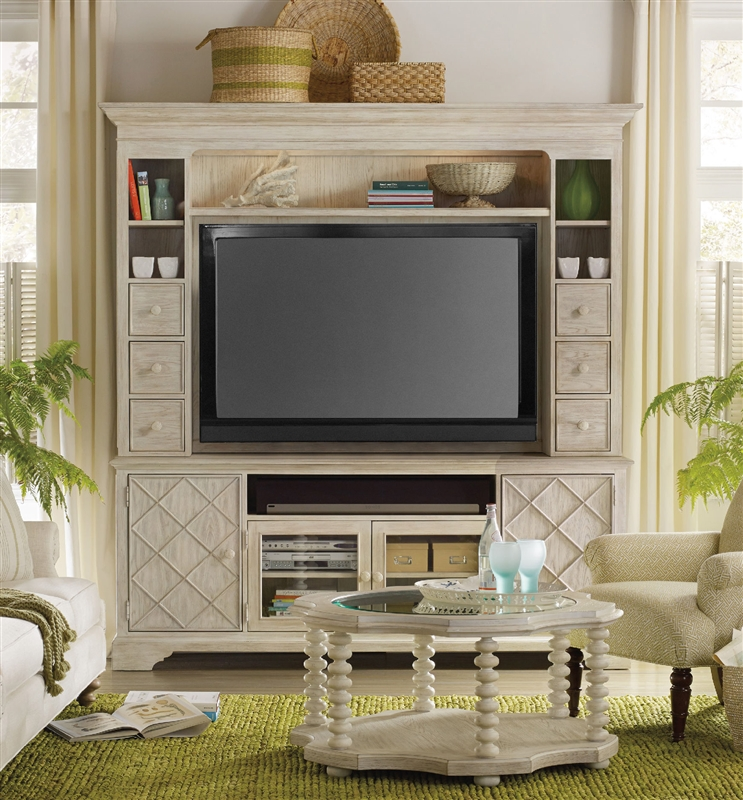 Sunset Point 2 Piece Entertainment In Hatteras White Finish By Hooker  Furniture HF 5325 55202