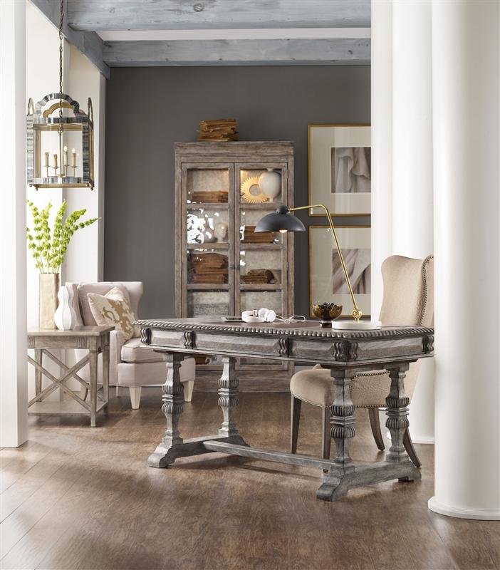 vintage hooker furniture desk. True Vintage Writing Leg Desk In Whitewashed Driftwood Finish By Hooker Furniture HF-5704-10458