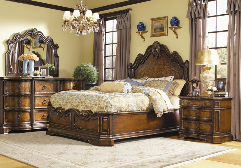 Charmant Beladora Platform Bed 6 Piece Bedroom Set In Caramel With Gold Tipping  Finish By Hooker Furniture ...