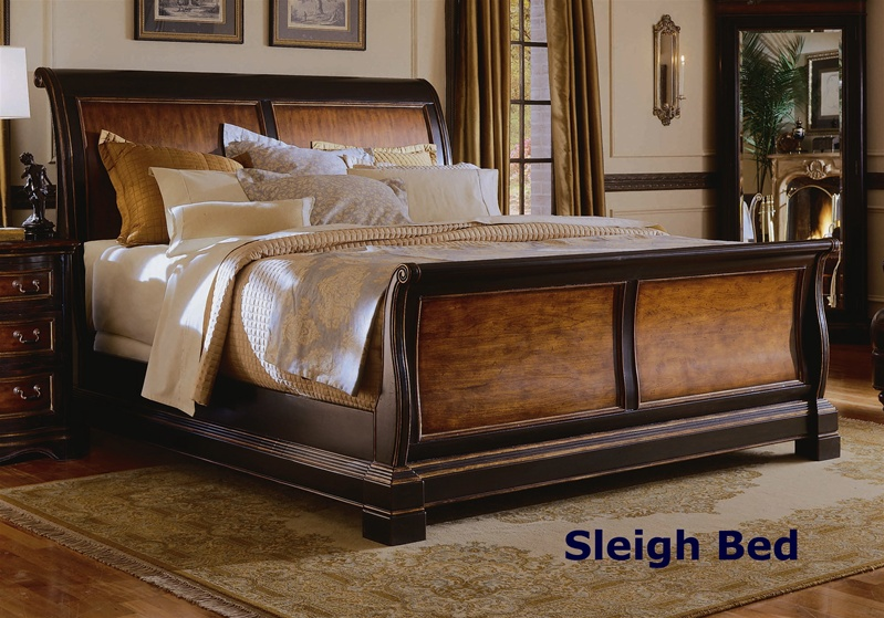Preston Ridge Sleigh Bed 6 Piece Bedroom Set in Two-Tone with ...