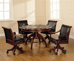 Palm Springs 5 Piece Game Table Set in Medium Brown Cherry Finish by Hillsdale Furniture -4185-5