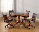 Park View 5 Piece Game Table Set in Medium Brown Oak Finish by Hillsdale Furniture -4186-5