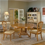 Wilshire 5 Piece Round/Oval Dining Set in Antique Pine Finish by Hillsdale Furniture - 4507-816-5