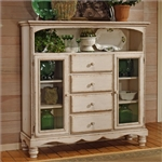 Wilshire Baker's Cabinet in Antique White Finish by Hillsdale Furniture - 4508-854