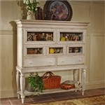 Wilshire Sideboard Cabinet in Antique White Finish by Hillsdale Furniture - 4508-855