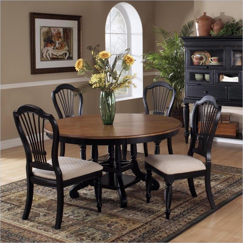 Black Dining Room Set Round Round Dining Table Sets on Hayneedle