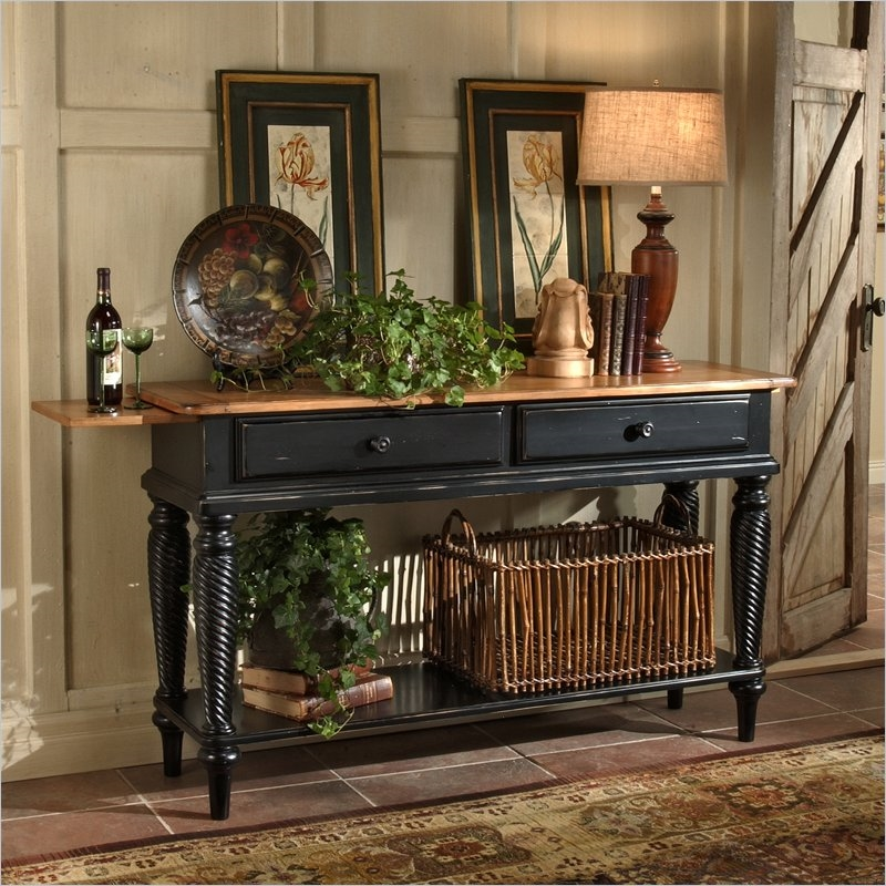Wilshire Sideboard In Rubbed Black And Antique Pine Two Tone Finish By  Hillsdale Furniture   4509 856