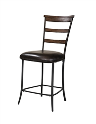 Cameron Non-Swiver (Ladder Back) Counter Stool - Set Of 2 by Hillsdale - HIL-4671-825