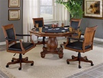 Kingston 5 Piece Game Table Set in Medium Cherry Finish by Hillsdale Furniture - 6004-5