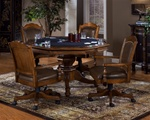 Nassau 5 Piece Game Table Set in Warm Brown Finish by Hillsdale Furniture - 6060-5
