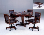Ambassador 5 Piece Game Table Set in Medium Brown Cherry Finish by Hillsdale Furniture -6124-5