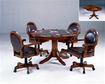 Warrington 5 Piece Game Table Set in Medium Brown Cherry Finish by Hillsdale Furniture - 6125-5