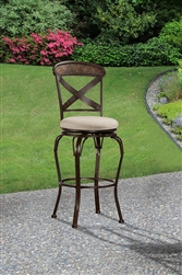 Kinsley (Indoor/Outdoor) Swivel Counter Stool by Hillsdale - HIL-6312-826