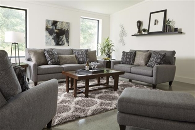 Ackland 2 Piece Sofa Set with USB Port in Charcoal, Twilight or Linen Fabric by Jackson Furniture - 3156-13- SET