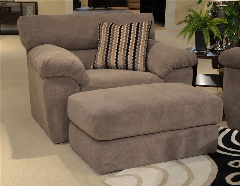"""Grayson Oversized Chair In """"Granite"""" Fabric By Jackson Furniture - 3186-01"""