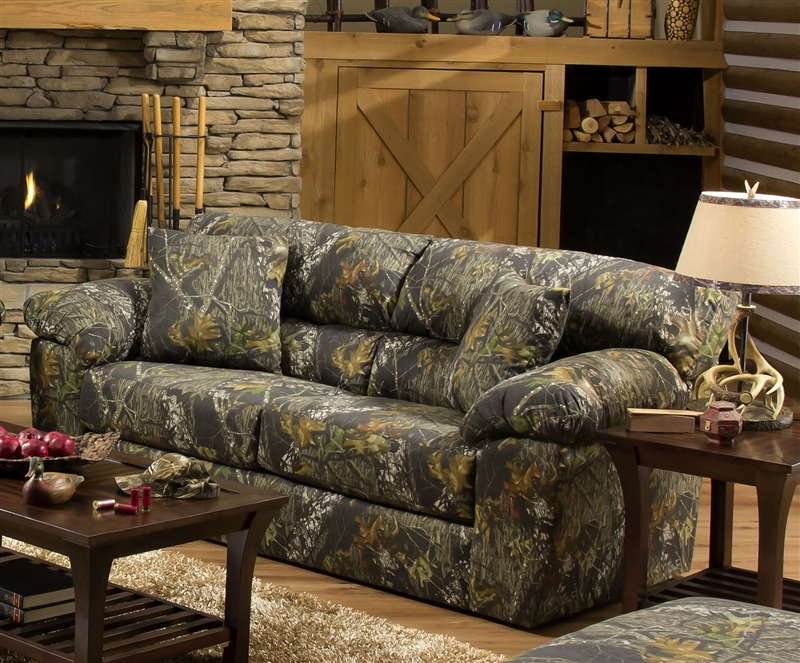 Big Game Sofa In Mossy Oak Camouflage Fabric By Jackson Furniture   3206 03