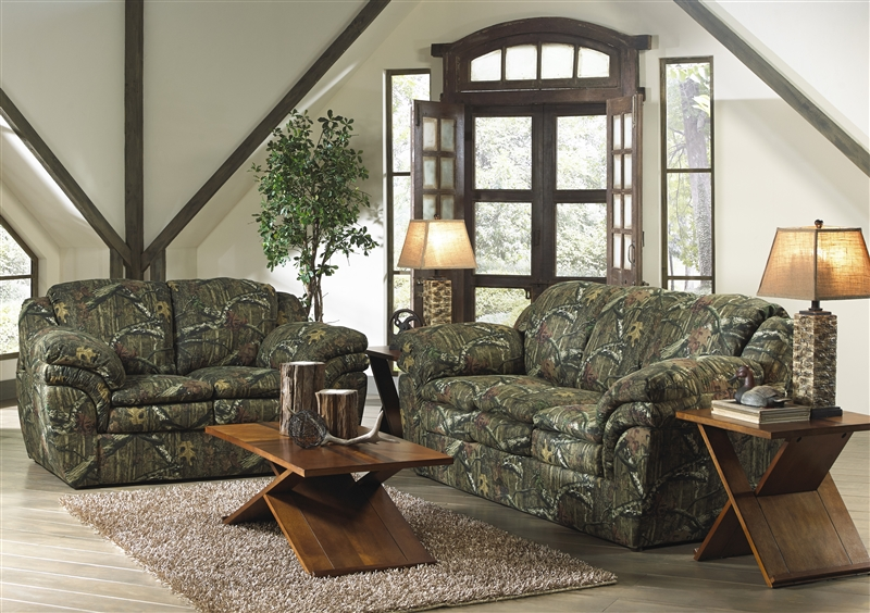 Huntley Loveseat in Mossy Oak or Realtree Camouflage Fabric by ...