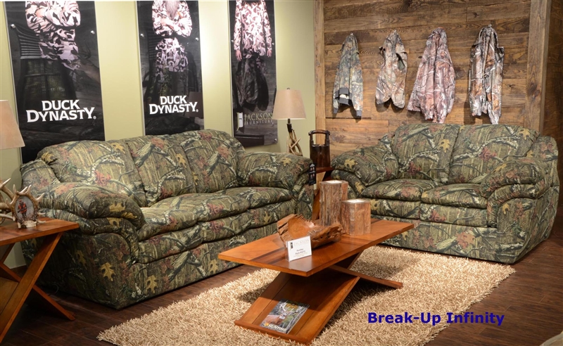 Astounding Duck Dynasty Huntley Loveseat In Mossy Oak Or Realtree Camouflage Fabric By Jackson Furniture 3212 02 Theyellowbook Wood Chair Design Ideas Theyellowbookinfo