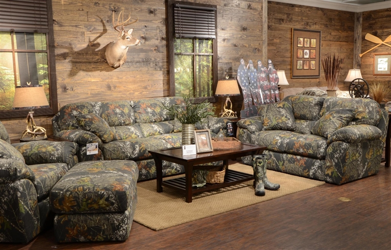 Duck Dynasty Cumberland 2 Piece Sofa Set in Mossy Oak or Realtree  Camouflage Fabric by Jackson Furniture - 3218-S