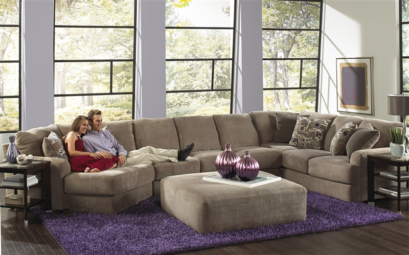 Malibu 3 Piece Sectional in Taupe Adobe or Sand Chenille Fabric by Jackson Furniture - 3239-03 : jackson furniture sectional - Sectionals, Sofas & Couches