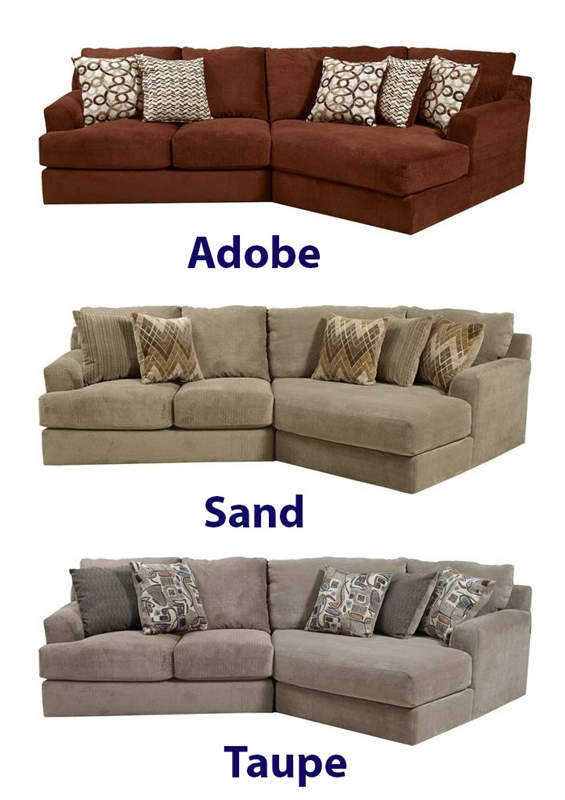 Malibu 2 Piece Sectional In Taupe Adobe Or Sand Chenille Fabric By Jackson Furniture 3239 A