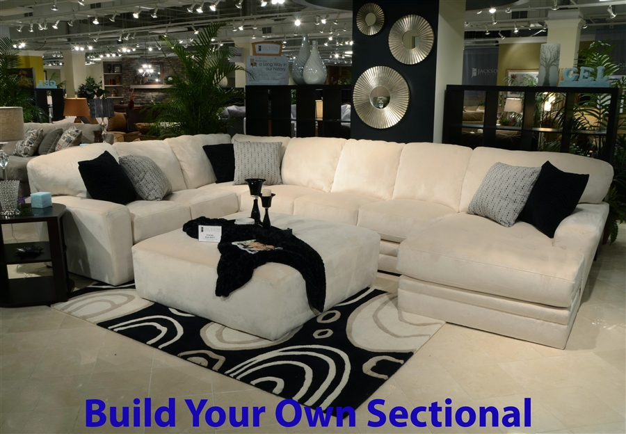 Jackson sectional sofa 3 piece sectional in grey fabric by for Jackson furniture sectional sofa
