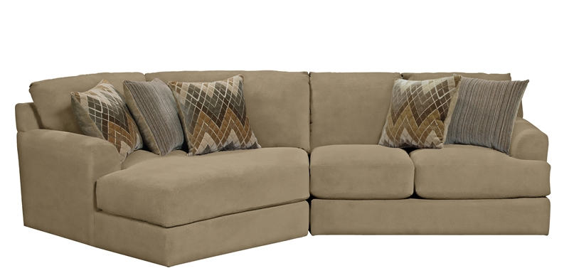 Malibu 2 Piece Sectional in Taupe Adobe or Sand Chenille Fabric by Jackson Furniture - 3239-2R-S  sc 1 st  Home Cinema Center : malibu sectional - Sectionals, Sofas & Couches