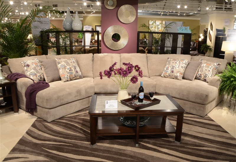 Malibu 3 Piece Sectional in Taupe Adobe or Sand Chenille Fabric by Jackson Furniture - 3239-3P : malibu sectional - Sectionals, Sofas & Couches