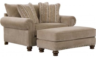 Avery Oversized Chair in Putty Chenille by Jackson Furniture - 3261-01-P