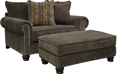 Avery Oversized Chair in Tiger's Eye Chenille by Jackson Furniture - 3261-01-T