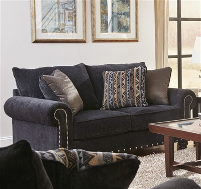 Avery Loveseat in Slate Chenille by Jackson Furniture - 3261-02-S