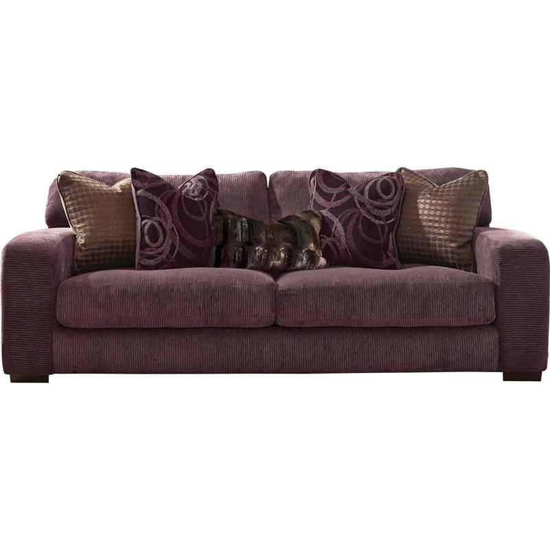 Serena Sofa In Plum Chenille By Jackson